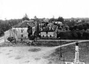 La piazza bombardata